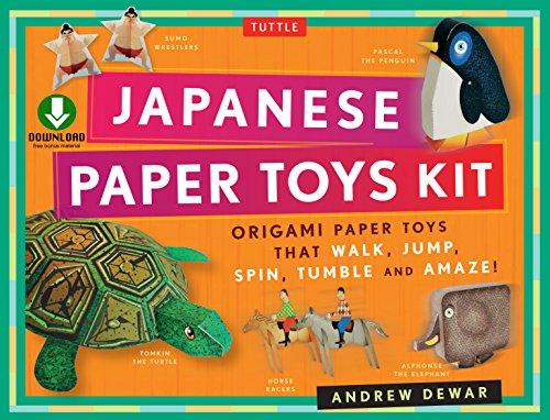 Amazon.com: Japanese Paper Toys Kit: Origami Paper Toys that ...