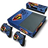 ZoomHit Xbox One Console Skin Decal Sticker Superman + 2 Controller & Kinect Skins Set …