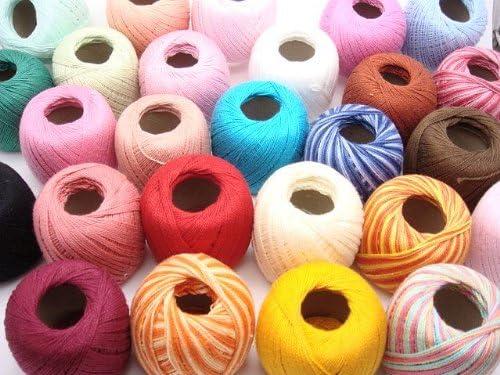 Lote de 45 ovillos de hilo de algodon. Para crochet, bordado y ...