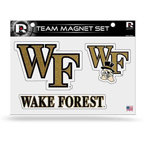 NCAA Wake Forest Demon Deacons Bling Team Magnet Set