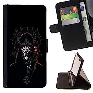 BullDog Case - FOR/Samsung ALPHA G850 / - / Darth lord Robot /- Monedero de cuero de la PU Llevar cubierta de la caja con el ID Credit Card Slots Flip funda de cuer