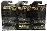 67 black camaro - Hot Wheels New 1:64 50th Anniversary Black & Gold Collection - '67 Camaro, Bone Shaker, Twin Mill, Rodger Dodger, Dodge Dart, 64 Impala & Set of 6pcs Diecast Model Car By HotWheels