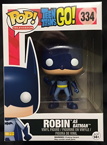 Funko POP! Teen Titans GO! Robin as Batman Exclusive    334 Vinyl Figure by POP! 2f5d57