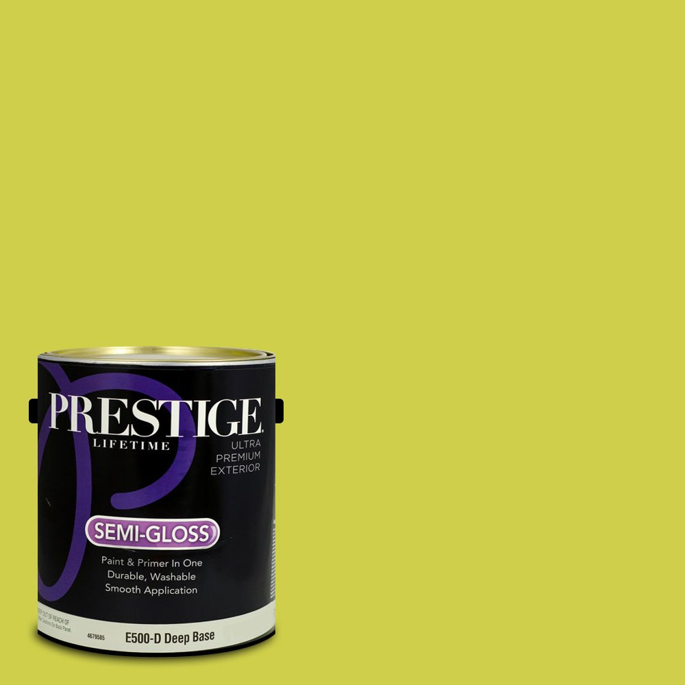 Prestige Paints Exterior Paint and Primer In One, 1-Gallon, Semi-Gloss,  Comparable Match of Benjamin Moore Flower Power