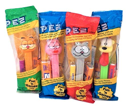 Garfield Candy - Pez Garfield Candy Dispensers Garfield, Arlene, Nermal, Odie Set of 4 Dispensers