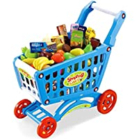 Children Shopping Trolley Kids Shopping Cart 46Pcs