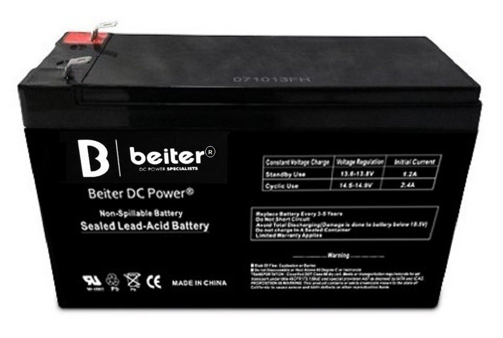 UPG Security Alarm System Battery Replacement 12V 8.0Ah SLA Security Certified-Electronics Beiter DC Power