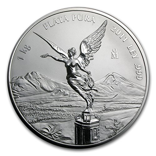 (2011 MX Mexico 1 kilo Silver Libertad Proof Like (w/Box & COA) Silver Brilliant Uncirculated)