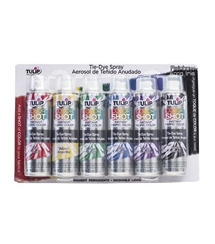 Tie Dye Fabric Paint - Tulip 37639 Fabric Spray Paint, Multicolor