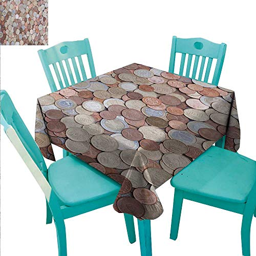 - Money Elegance Engineered Christmas Tablecloth Close Up Photo of Coins European Union Euros Cents on Rustic Wooden Board Runners,Gatsby Wedding,Glam Wedding Decor,Vintage Weddings 54