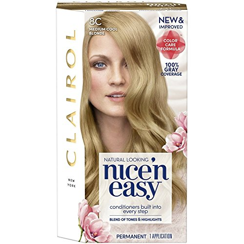 New Clairol Nice 'n Easy Permanent Color, Medium Cool Blonde 8C 1 kit (Pack of 3)