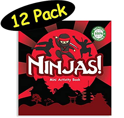 Amazon.com: Ninja Party Favors Mini Activity Book for Karate ...