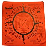 Survival Signaling Bandana with Printed Survival Instructions