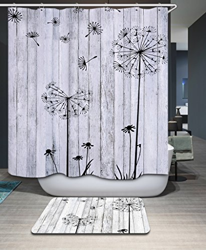 Monadicase Bathroom Curtains Width X Height / 72 X 72 Inches / W H 180 By 180 Cm(fabric) Nice Choice For Couples,artwork,kids,wife,boys. Anti Bacterial Pure Dandelion Polyester