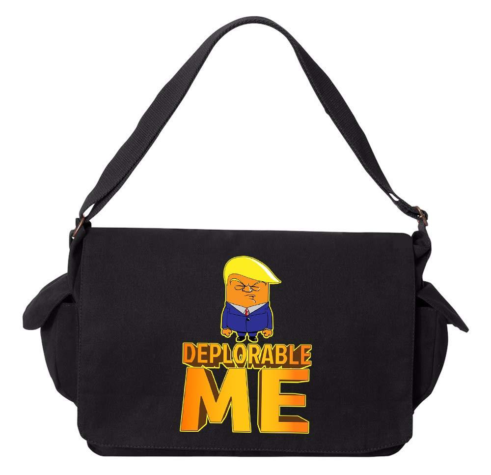 Tenacitee Deplorable Me Grey Brushed Canvas Messenger Bag