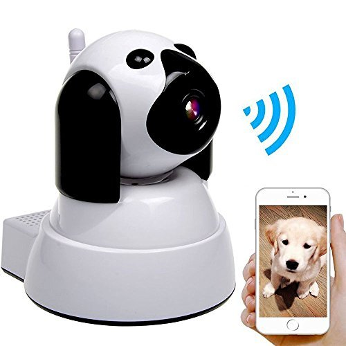 Yooan WiFi IP Camera 720P HD Wireless Camera Baby Pet Monitor Surveillance Home Security Camera Nanny IP Cam Pan/Tilt with Motion Detection Two-Way Audio Night Vision by Yooan