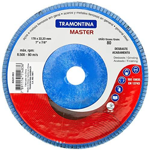 Tramontina 42631003, Disco Flap Cônico Diâmetro 7, Lixa com Grãos de Zircônia 80, 13300 Rpm