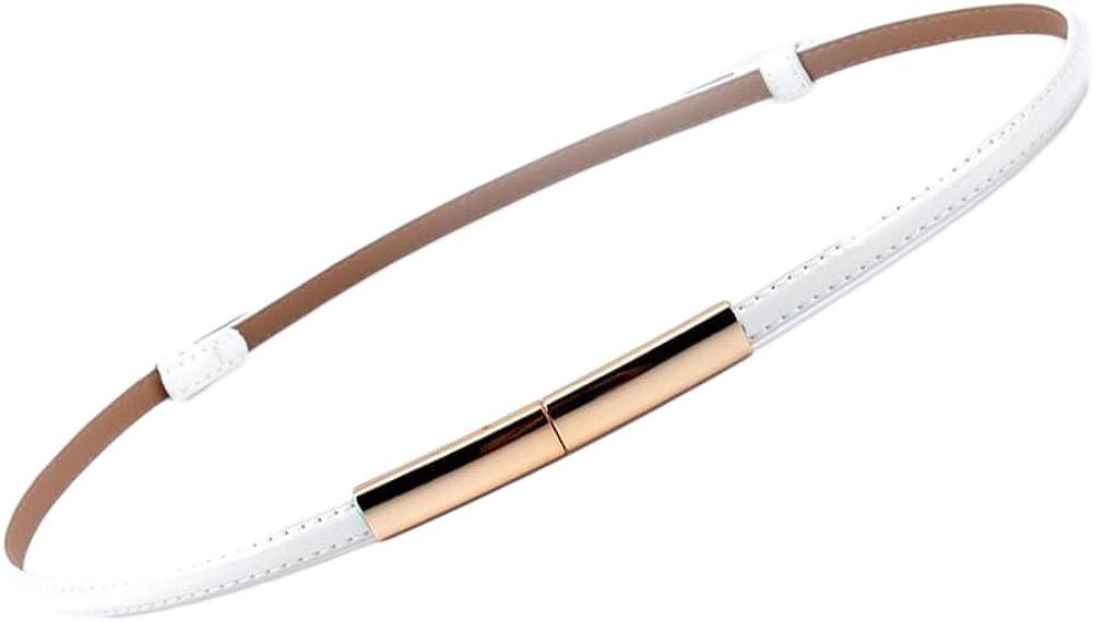 Oyccen Cinturón de Cuero Fino con Hebilla de Aleación Señoras Vestido Decorativa Correas de Cintura