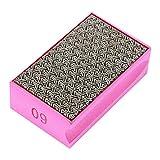 60-400 Grit Diamond Hand Polishing Pads Hand Sanding Pad Diamond Stone Sharpener for Stone Marble Glass Granite(60 Grit)