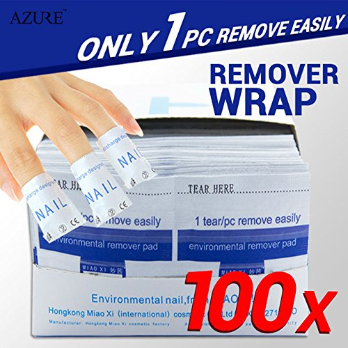 nail remover 100Pcs/lot Nail Art gel polish Lacquer Easy cleaner gel nail Wraps UV Gel Remover Nails Care - Movie Glue Full