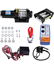 GOTOTOP Cabrestante de 12 V para vehículo eléctrico (4000 lb), control remoto de cable de carga