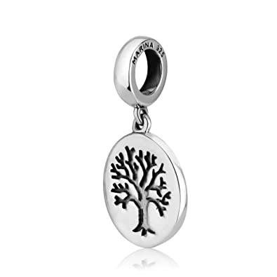 11ac5e2f16286e Genuine 925 Sterling Silver Dangle Pendant Charm for 3mm Necklace or Snake  Chain Bracelet, Engraved