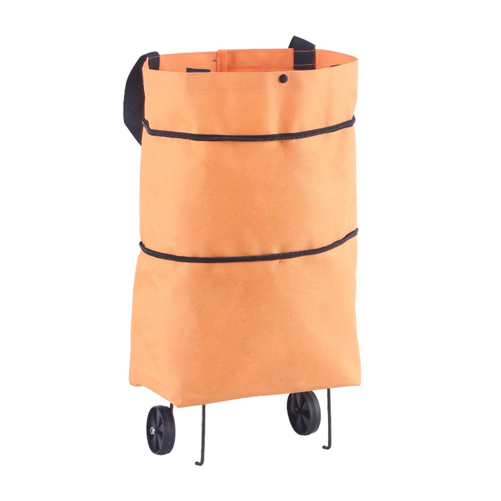 QIYINGYING Shopping Bag Folding Portable Large Supermarket Tote Bag Shopping Bag with Wheels Waterproof Bag Large Capacity Green Bag