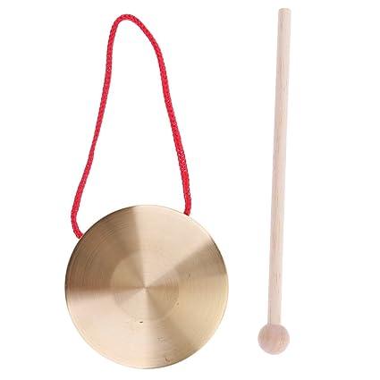 sharprepublic Mini Pequeños Niños Niños Metal Cymbals De Mano Gong Band Percussion