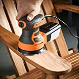 VonHaus Random Orbit Sander 350W - 6 Variable Speed with Dust Extraction System Includes 5 Sandpaper Pads for Home DIY