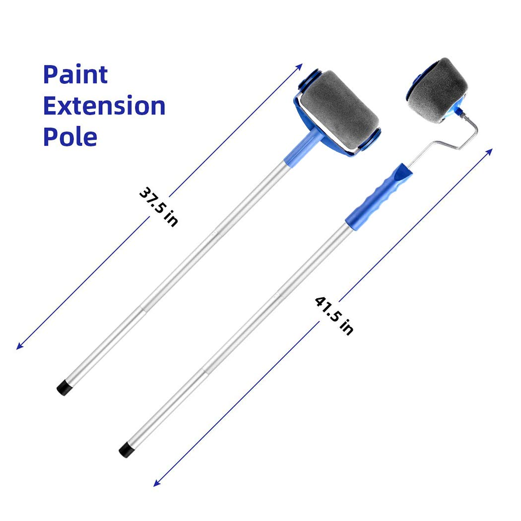 Transform Your Room in Just Minutes Quickly Decorate Runner Tool Painting Brush Set. 14Pcs//Set Paint Roller Pro Updated Version 3 Telescopic Poles Wall Printing Brush