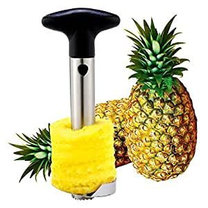 JILLBAN Pineapple Slicer Stainless Steel Corer Slicer Peeler Parer Cutter Easy Kitchen Tool