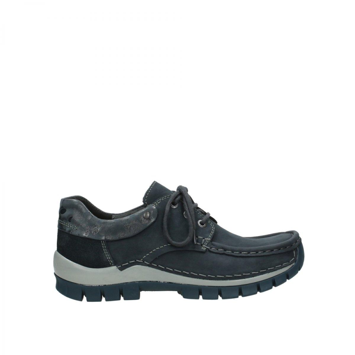 Wolky Womens Rio Leather Sandals 40 EU|59800 Blau Leder