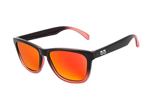 Gafas de sol POLARIZADAS BICOLOR – Modelo FASHION para hombre y mujer – Lentes polarizadas 1.1 mm (Rojo)