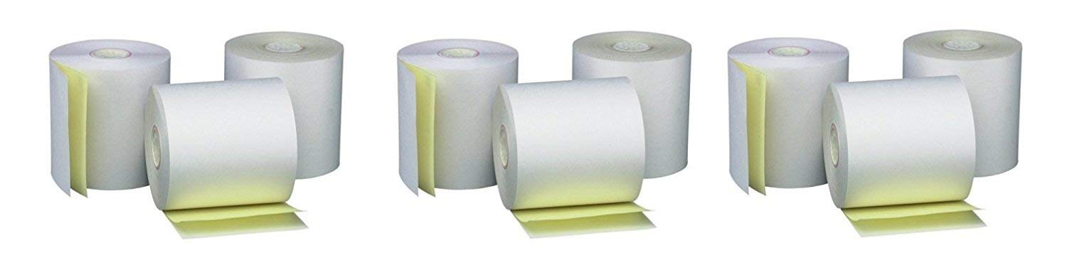 PM Company Perfection Two Ply Carbonless Rolls, 3 X 95 Feet, White/Canary, 50 Rolls Per Carton (07901) (3 X Pack of 50) by PM Company (Image #1)
