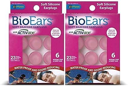 3 Pair Pack BioEars Soft Silicone Earplugs 5 Packs