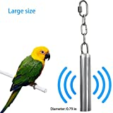 AUOON Bird Toys Stainless Steel Hanging Bell Bird Parrot Cage Bite Toy Squirrel Parrot Pigeon Swing Stand Toys Bells (Large)