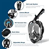 ZIPOUTE Snorkel Mask Full Face, Full Face Snorkel
