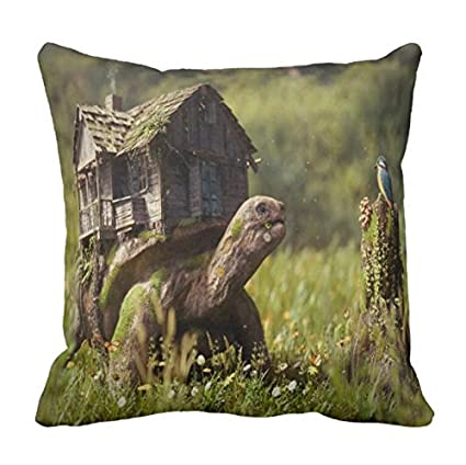 Amazon Xueyu Pillowcase Fantasy Turtle Load House Print Pillow Interesting Load Pillow Covers