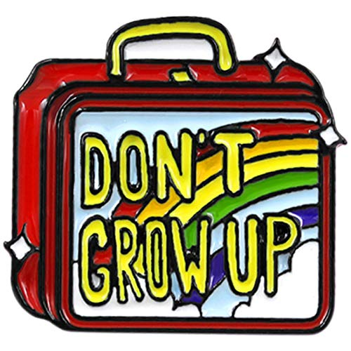 - TOOGOO Don't Grow Up Enamel Brooch Hand Luggage Rainbow Lunch Box Brooch Sweater Denim Backpack Badge White Collar Custom Jewelry