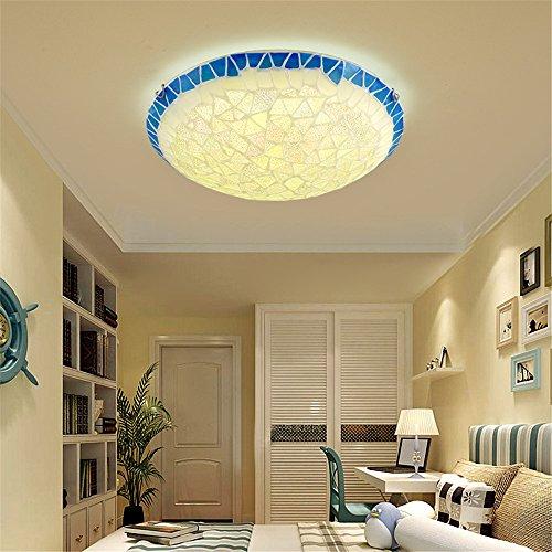 Led Lampe Chaleureuse S'allume De Chambre Angeelee Ronde Plafond D 54ARL3jq
