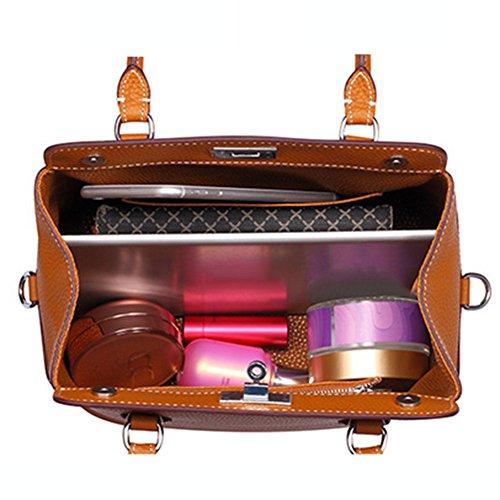 Modello Pu Qualità Tracolla Uniti Borsa Barepink E Stati Pelle Borse Europa Handbag Diagonale Moda Casual Litchi Donna Grande Capacità Pacchetto Piccola q1wvTZ0