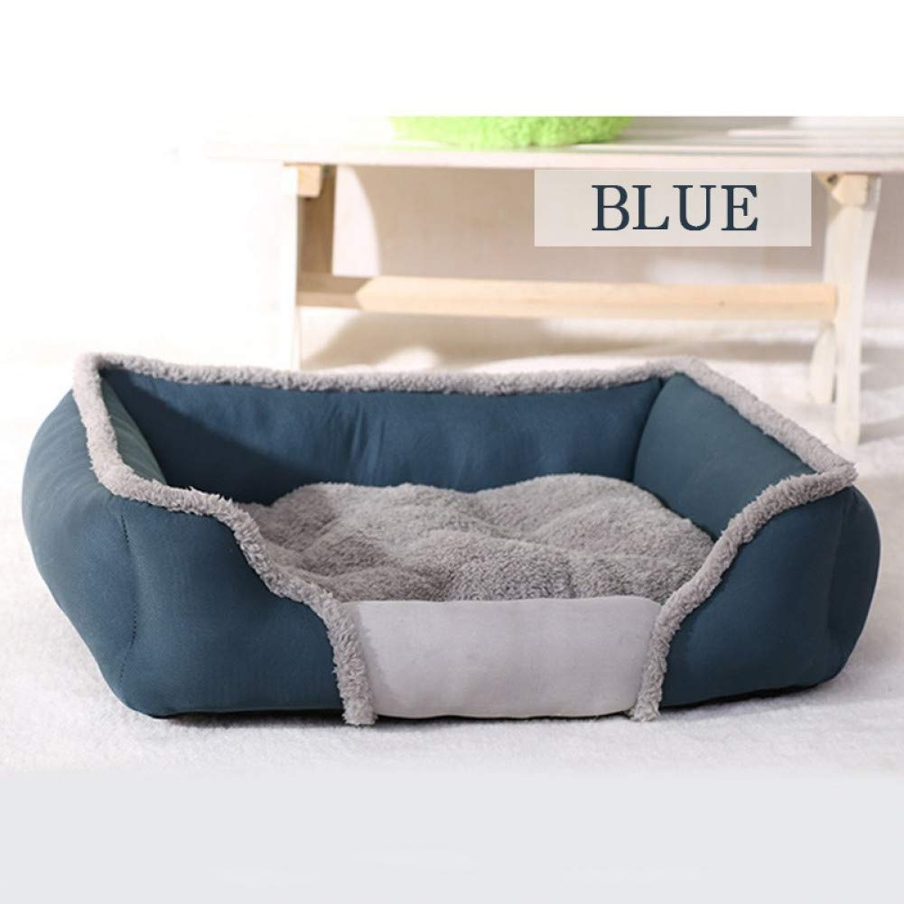 bluee L 79X60X19CM CZHCFF Dog bed small dog large soft house material nest dog baskets doublesided fabric design kennel for all season pet bed
