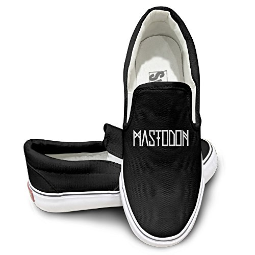 [MGTER66 Mastodon Band Classic Slip-On Casual Sneaker Unisex Style Color Black Size 42] (Flash Drive Costume)