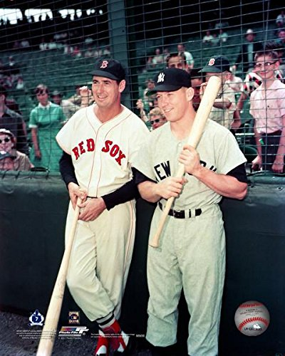 - New York Yankees Mickey Mantle and Boston Red Sox Ted Williams Together at Fenway Park 8x10 Photograph (color)