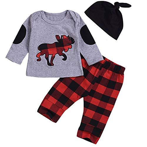 Boys Christmas Clothing - 2Pcs Toddler Baby Boy Girl Long