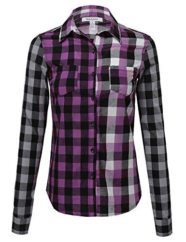 Plaid Button Up Shirt - 7