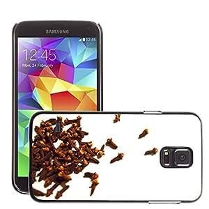 Etui Housse Coque de Protection Cover Rigide pour // M00153354 Clavos Antecedentes Especias Aroma // Samsung Galaxy S5 S V SV i9600 (Not Fits S5 ACTIVE)