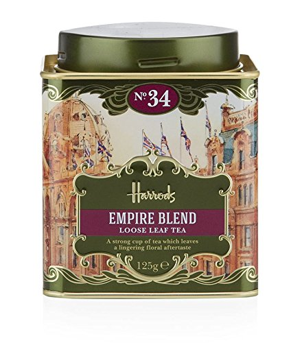 Harrods London. Gift Tin Caddy, No. 34 Empire Blend Loose Leaf Tea 125g 4.4oz Gift Tin Caddy (1 Pack) Seller Product Id Emp0965
