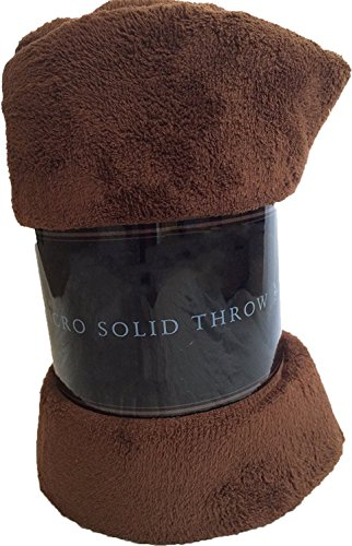 (Luxury Discounts Warm & Cozy Soft Plush Solid Fleece Throw Blanket (50