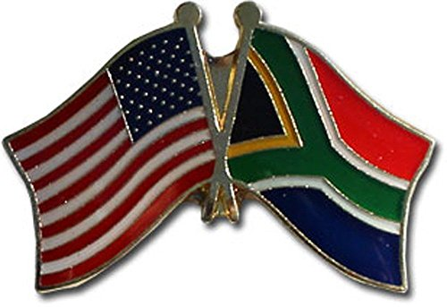 ALBATROS Pack of 3 USA American South Africa Flag Lapel Pin for Bike Hat and Cap for Home and Parades, Official Party, All Weather Indoors Outdoors